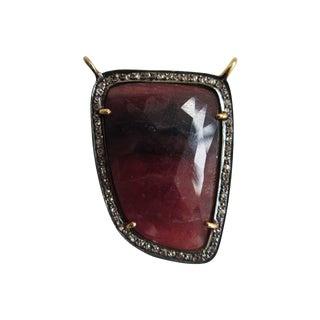 Asymmetrical Turkish Sapphire Pendant For Sale