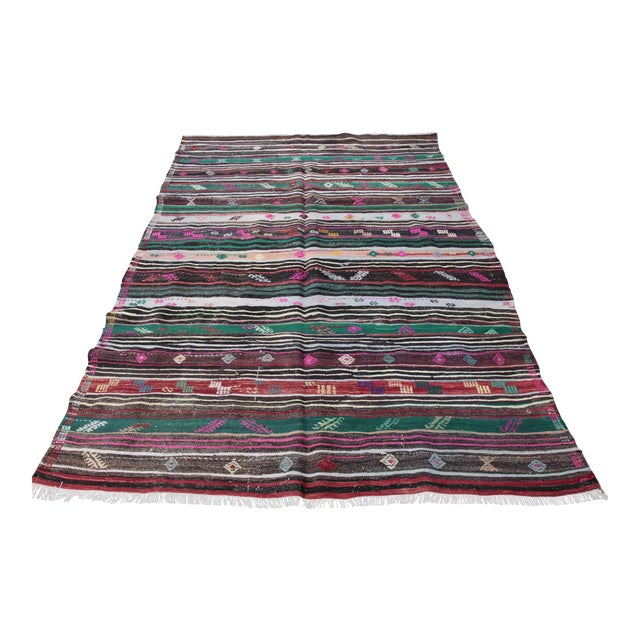 Turkish Kilim Rug - 8' 8'' X 5' 10'' For Sale