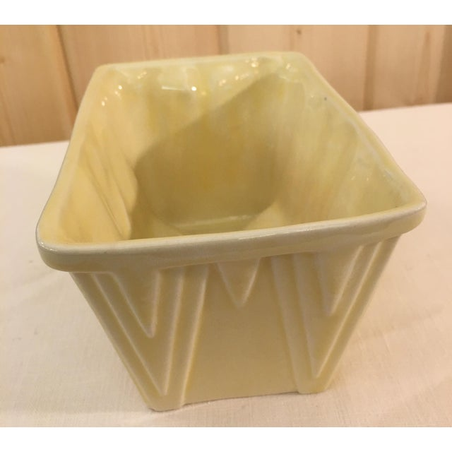 CP Cookson Art Deco Style Yellow Planter - Image 6 of 8