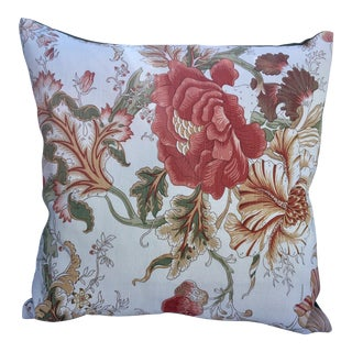 "Bennison Linen ""Tree Flower"" Pillow For Sale"