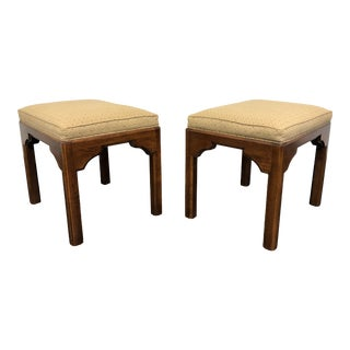 Ethan Allen Chinoiserie Footstools - Pair For Sale
