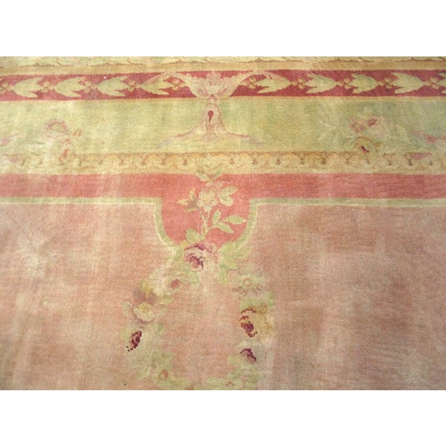 """1900 - 1909 Antique Savonnerie Rug 11'10"""" X 16'6"""" For Sale - Image 5 of 7"""