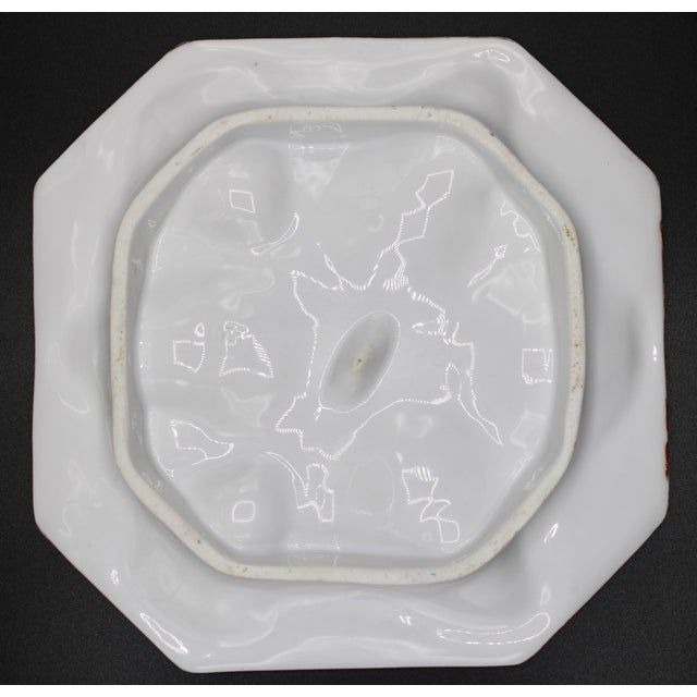 French Electric Blue Oyster Plate For Sale - Image 10 of 13