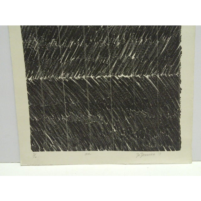 "Abstract 1973 Limited Edition ""One"" Signed Numbered (3/10) Print by De Domenico For Sale - Image 3 of 6"