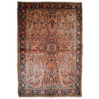 1920s Handmade Antique Persian Sarouk Rug 3.1' X 5.2' For Sale