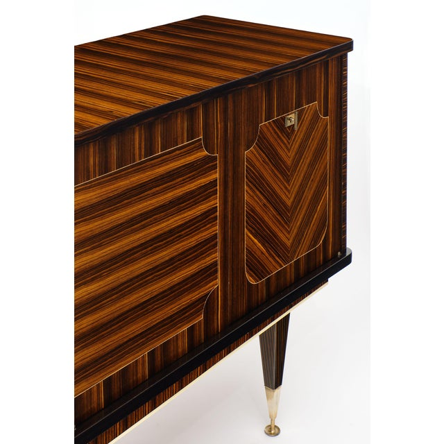 1960s Macassar of Ebony French Vintage Buffet For Sale - Image 5 of 12