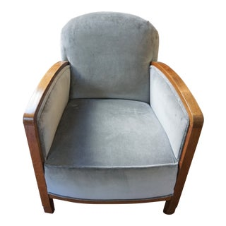 Mid-Century Modern Art Deco Bergere Chair For Sale