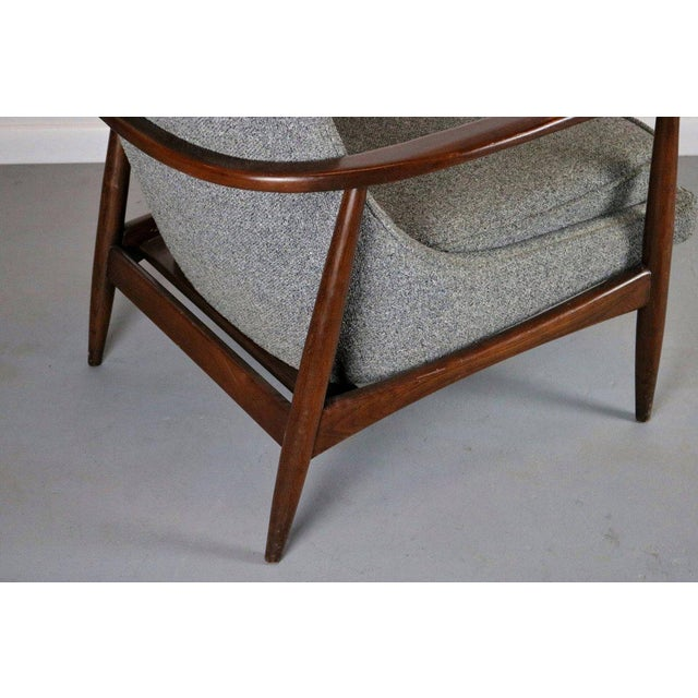 Danish Modern Vintage Mid Century Larsen Style Lounge Chair For Sale - Image 3 of 4
