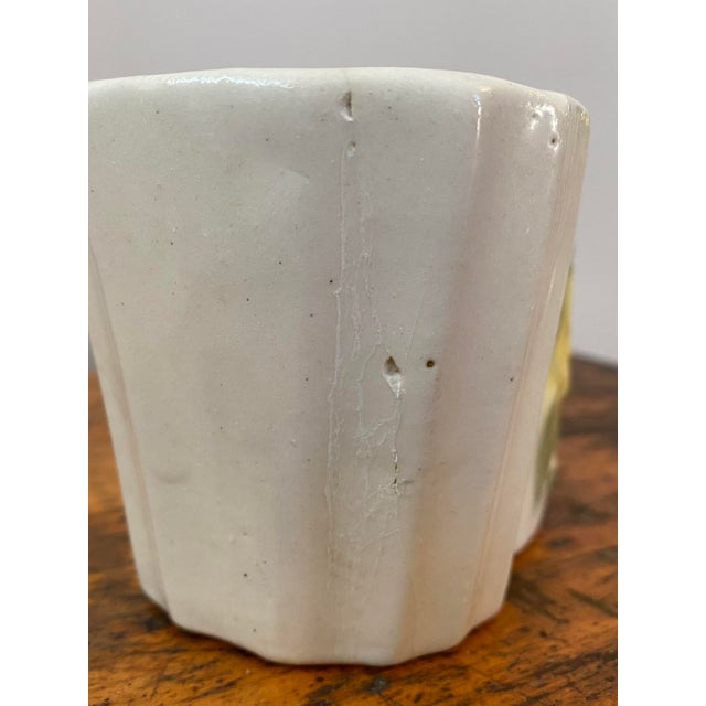 Vintage Ceramic Planter With Yellow Rose For Sale In Chicago - Image 6 of 8