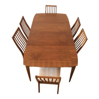 1960s Mid Century Modern Lane First Edition Dining Set - 7 Pieces For Sale