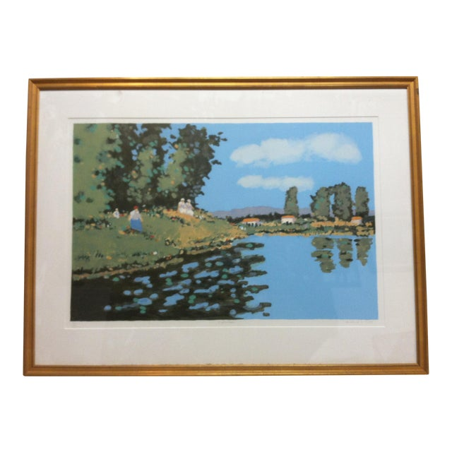 "Vintage Mid-Century Frederick McDuff ""Reflections"" Framed & Matted Limited Edition Print For Sale"