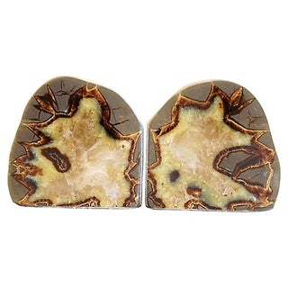 Carved & Polished Dragonstone Crystal Bookends