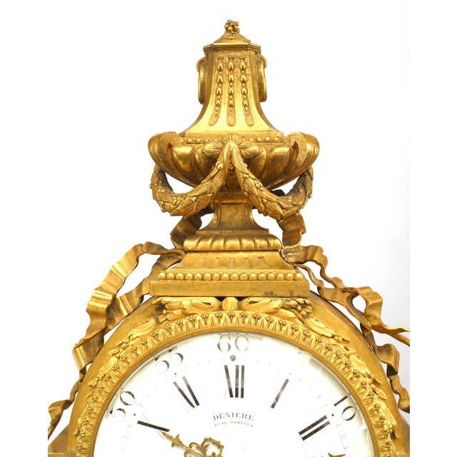 Louis XVI French Louis XVI Style '19th Century' Gilt Bronze Mantle Clock For Sale - Image 3 of 7