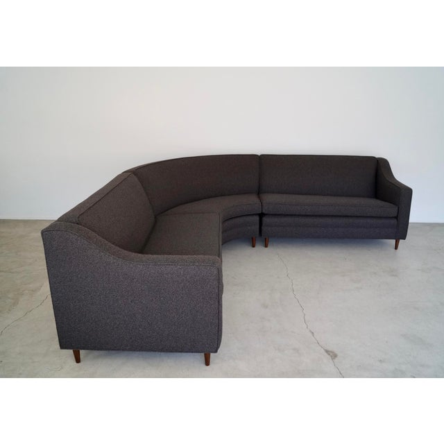 Danish Modern Mid-Century Modern Reupholstered 3-Piece Sectional Sofa For Sale - Image 3 of 13