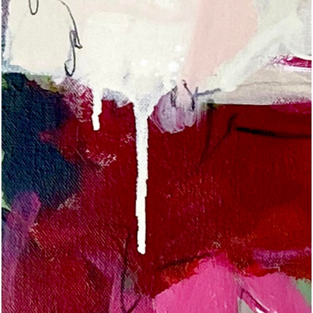 "Contemporary ""Powder Keg"" - Original Mixed Media Abstract Painting by Gina Cochran For Sale - Image 3 of 9"
