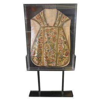 18th Century Embroidered Chasuble For Sale