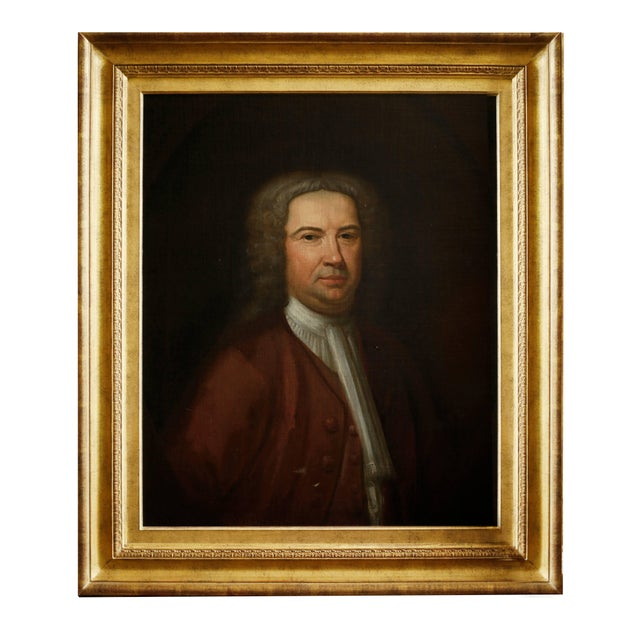 Pair of 18th Century American Portraits in Giltwood Frames For Sale In New York - Image 6 of 9