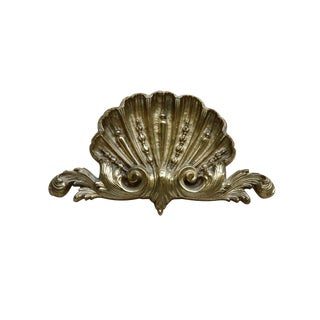 Rococo Style Scallop Shell Brass Appliqué For Sale