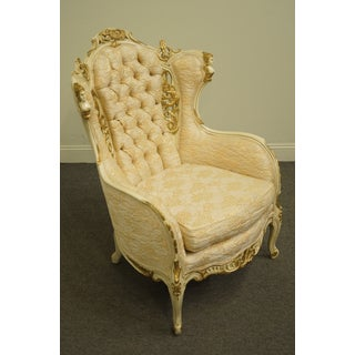 Late 20th Century Virgilio Furniture Chicago Il Louis XVI French Provincial Parlor Chair Preview