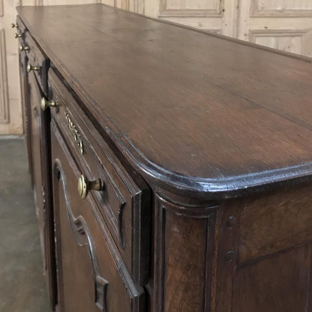 Early 19th Century 19th Century Country French Provincial Oak Low Buffet For Sale - Image 5 of 13