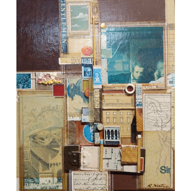 Contemporary Roderick Slater -One to Nine - Mixed Media Collage Painting For Sale - Image 3 of 7