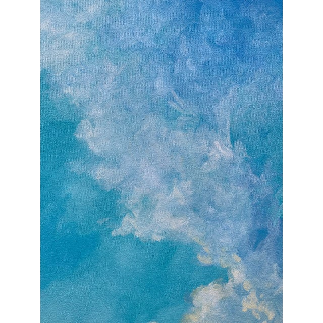 """Abstract Christine Elise """"The Meaning of a Day"""" Contemporary Sky and Clouds Oil Painting For Sale - Image 3 of 6"""