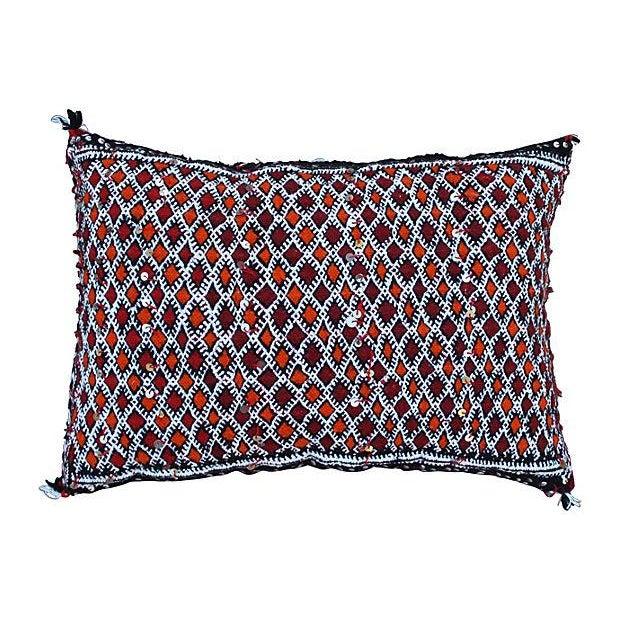 Orange Diamonds Berber Pillow For Sale