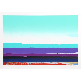 Joseph Grippi, Green Sky, Abstract Landscape Monoprint For Sale