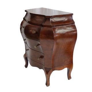 Walnut Burl Bombe Cabinet Made In Italy c. 1950s