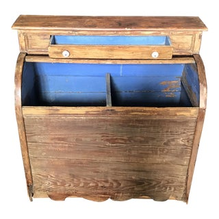 19th Century Pine Wood Box For Sale