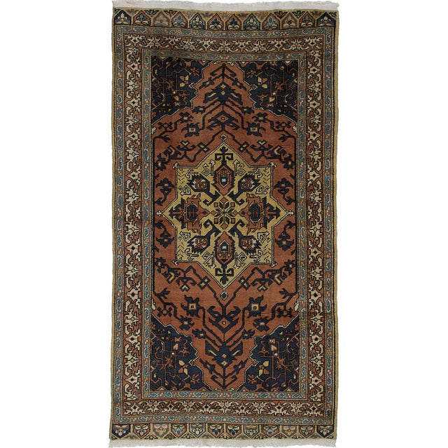 "Turkish Konya Anatolian Rug -4'1"" x 7'10"" For Sale"