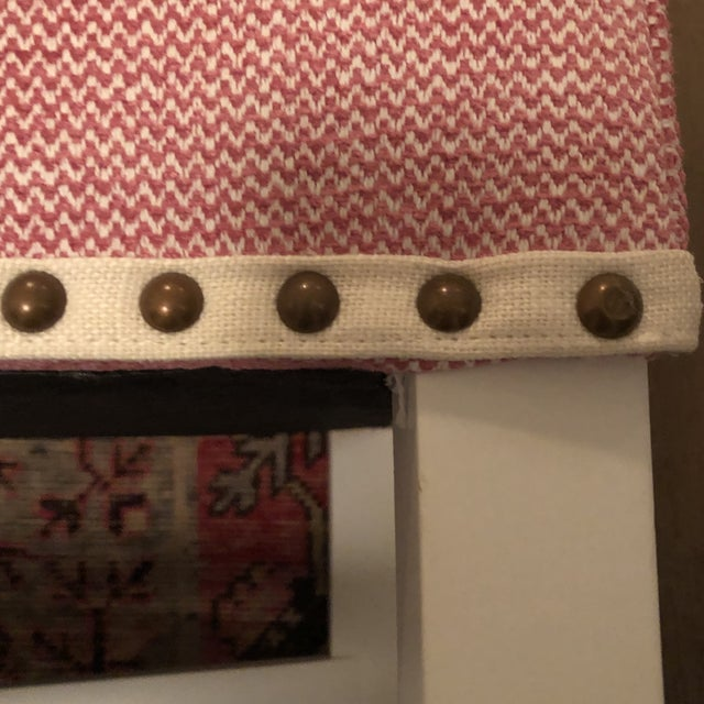 Pink Upholstered Oomph Tini X Bench For Sale - Image 12 of 13