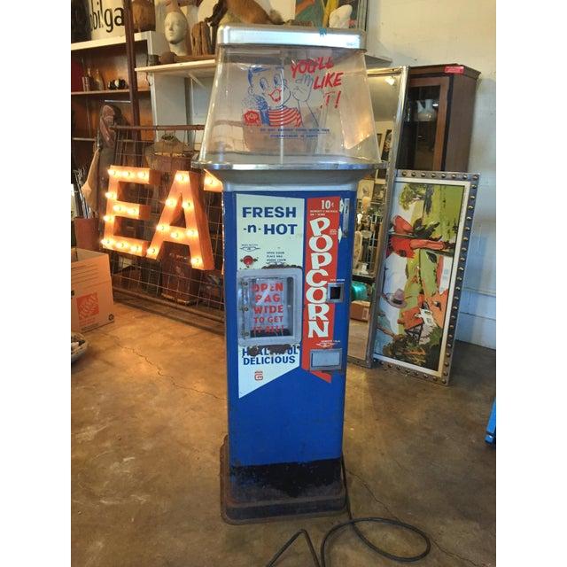 Americana Vintage Functional Popcorn Dispenser For Sale - Image 3 of 10