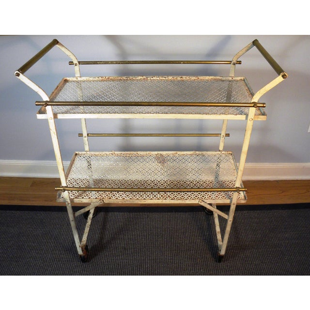 Vintage Mid-Century Folding Bar Cart - Image 4 of 6