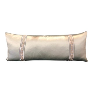 Mediterranean Double Sided Lumbar Pillow For Sale