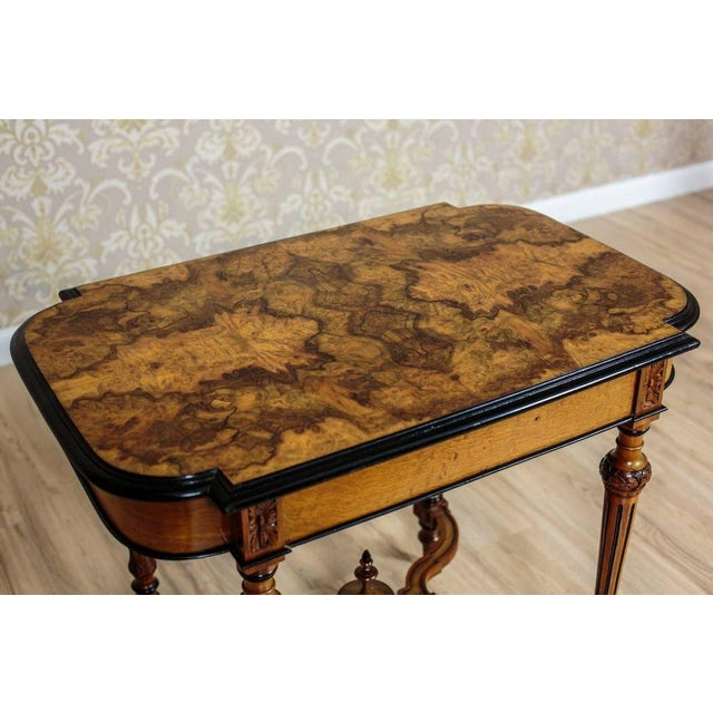 Late 19th Century 19th Century Eclectic Walnut Small Table For Sale - Image 5 of 11