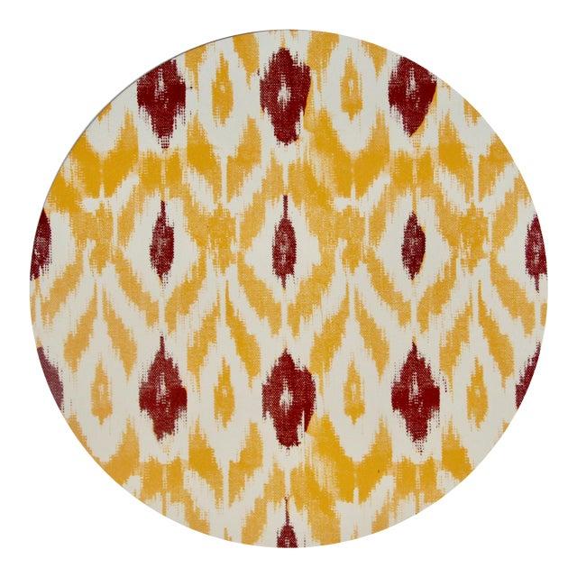 Ikat Placemat in Saffron For Sale
