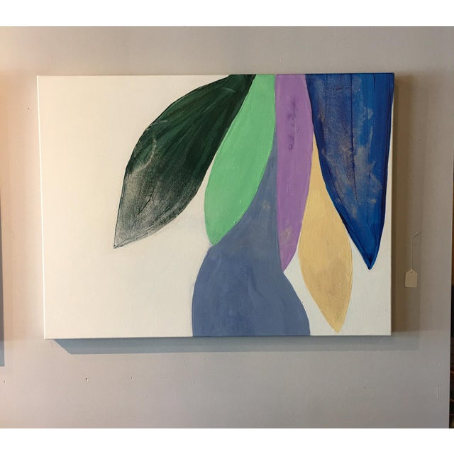 This original painting by Raleigh Artist Ellan Maynard will add color and life to your home. It is painted with acrylic...