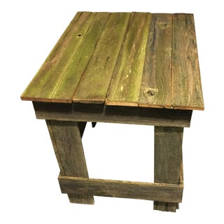 Rustic Handmade Side Table For Sale