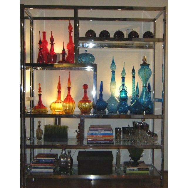 Milo Baughman Dia Chrome Glass Etagere - Image 2 of 5