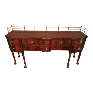"English Traditional Maitland Smith 84"" Buffet/Sideboard For Sale"
