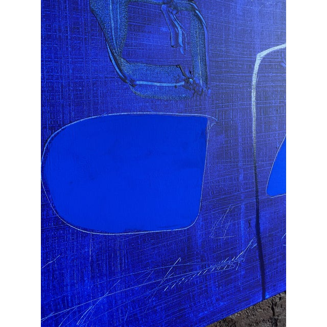 Blue Monumental Contemporary Abstract XV by William McLure For Sale - Image 8 of 11