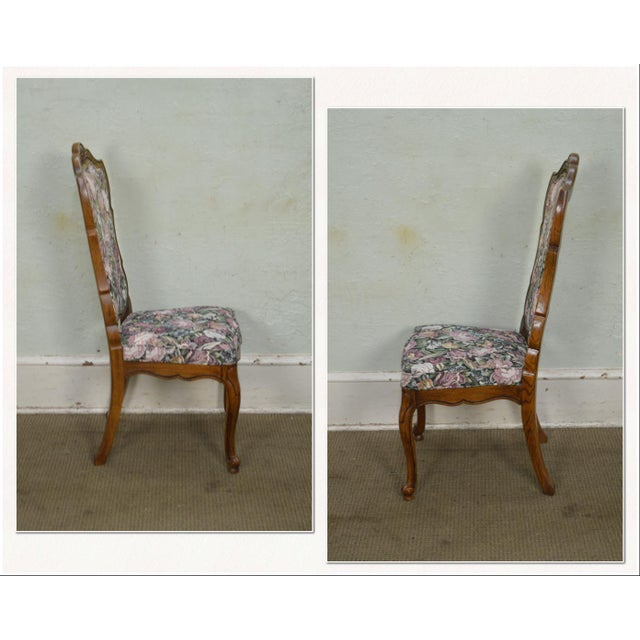 Thomasville Vintage French Louis XV Style Set of 6 Dining Chairs For Sale - Image 5 of 12