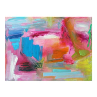 """South Beach"" by Trixie Pitts Abstract Expressionist Oil Painting For Sale"