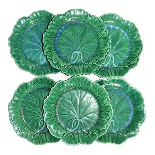 1950s English Traditional Wedgwood Majolica Plates - Set of 6