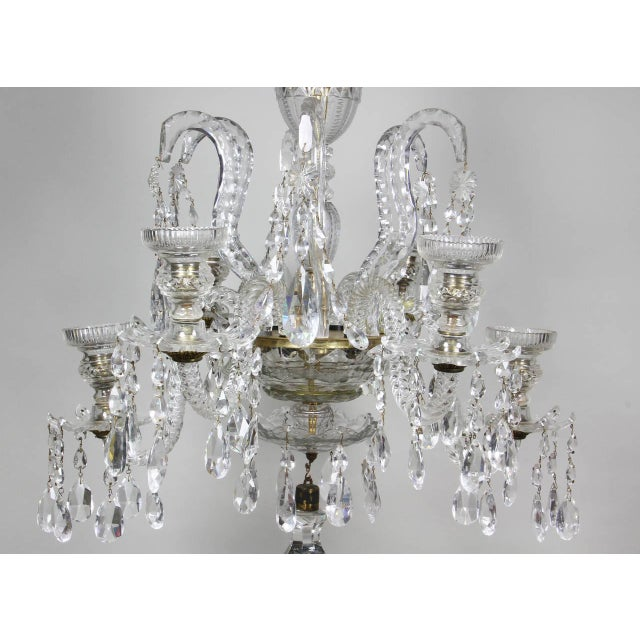Anglo-Irish Cut-Glass Chandelier For Sale In Boston - Image 6 of 10