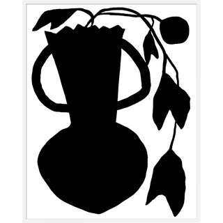 "Large ""Unusual Vase Four White"" Print by Kate Roebuck, 40"" X 50"" For Sale"
