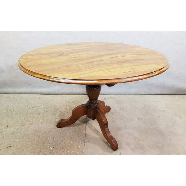 Antique French Walnut Round Tilt Top Occasional Side Breakfast Table For Sale - Image 13 of 13