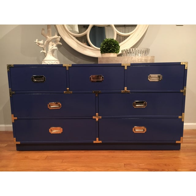 1970s Bernhardt Campaign Dresser For Sale - Image 7 of 7
