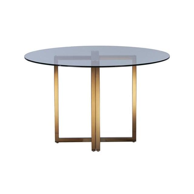 Cb Silverado Brass Dining Table Chairish - Silverado rectangular coffee table